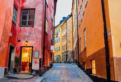 Historical Old Town in Stockholm, Sweden