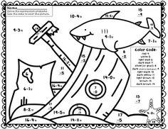Teacher's Pet - Under the Sea Subtraction Colouring Puzzle ...