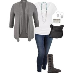 A fashion look from July 2015 featuring maurices cardigans, maurices t-shirts and Old Navy jeans. Browse and shop related looks.