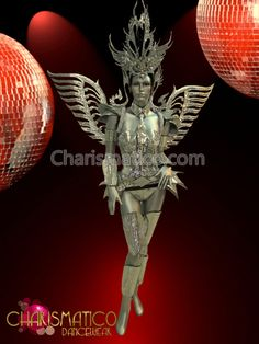 Charismatico Dancewear Store - CHARISMATICO Full Mirror armor-styled costume set with matching headdress and wings, $459.00 (http://www.charismatico-dancewear.com/charismatico-full-mirror-armor-styled-costume-set-with-matching-headdress-and-wings/)