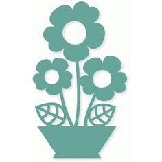 Silhouette Design Store - browse-my-designs Silhouette Cameo Projects, Silhouette Design, Silhouette Portrait, Scroll Saw Patterns, Flower Pots, Potted Flowers, Paper Cutting, Diy And Crafts, Projects To Try