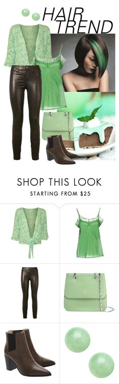 """Hair Trend - Mint and Chocolate"" by giovanina-001 ❤ liked on Polyvore featuring beauty, WearAll, Twin-Set, J Brand, Mark Cross, Schutz, hairtrend, rainbowhair and plus size clothing"