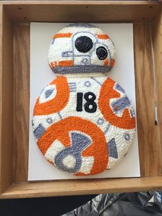 My birthday cake for my birthday - Star Wars Cake - Ideas of Star Wars Cake - (er cake. Wouldnt be super hard to make I dont think Star Wars Party, Star Wars Birthday Cake, 18th Birthday Cake, Birthday Fun, Birthday Ideas, Bolo Star Wars, Star Wars Bb8, Star Wars Cake Toppers, Star Wars Cupcakes