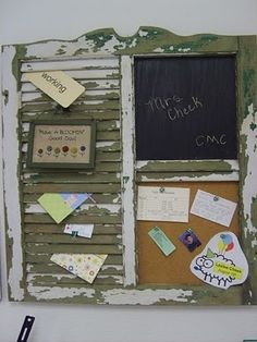 Upcycle a shutter.vintage. old shutters. persianas antiguas. decoration. decoración