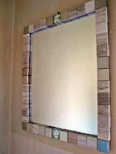 Diy Arts And Crafts, Diy Craft Projects, Diy Crafts, Craft Ideas, Diy Mirror, Mirror Ideas, Shower Shelves, Dream Bathrooms, Home Decor Inspiration
