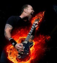 James Hetfield of Metallica James Metallica, Metallica Art, Ron Mcgovney, Robert Trujillo, Cliff Burton, James Hetfield, Heavy Metal Music, Heavy Metal Bands, The Power Of Music