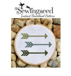 INSTANT DOWNLOAD Arrows Cross Stitch Pattern via Etsy