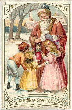 """"""" Christmas Greetings """" Vintage 1907 Post Card. Published by Tuck & Sons, London, England for their Christmas Post card series # 102. Embossed surface, rich colors, DB-UNU and in Very Good condition. Karodens Vintage Post Cards at www.bonanza.com/booths/karoden"""