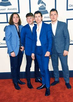 """""""Arctic Monkeys attend The 57th Annual GRAMMY Awards at the STAPLES Center on February 8, 2015 in Los Angeles, California. """""""