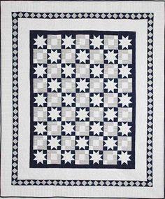 "Snowbound quilt, 70 x 82"", by Linda Pumphrey.  Pattern at Fons & Porter."