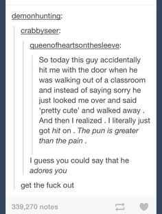 *Excuse the language  Adores you, tumblr funny
