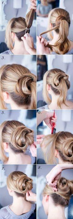 Easy Bun Hairstyles for Long Hair and Medium Hair1 (7)