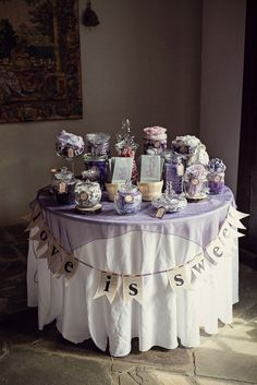 wedding candy bars display | pretty display. | Wedding - Candy Bar