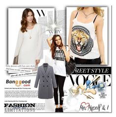 """""""Banggood II/30"""" by glosaryy ❤ liked on Polyvore featuring women's clothing, women, female, woman, misses, juniors and BangGood"""
