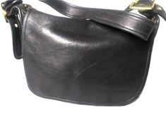 Vintage Coach 9951 Black Leather Coach Patricia Shoulder Bag Crossbody Made USA | eBay Crossbody Saddle Bag, Saddle Bags, Coach Legacy, Large Shoulder Bags, Vintage Coach, Shop Usa, Designer Bags, Handbag Accessories, Leather Shoulder Bag