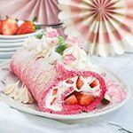 White Chocolate Strawberry Sponge Roll  Weie Schokolade Erdbeerhellip