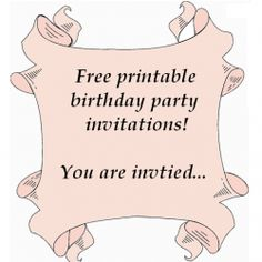 Browse through these free printable birthday party invitations for kids and adults and find the one that best suits you - I've created quite a...