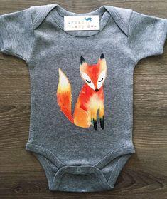 Fox Baby, Boy, Girl, Unisex, Gender Neutral, Infant, Toddler, Newborn, Organic, Bodysuit, Outfit, One Piece, Onesie®️️, Onsie®️️, Tee, Layette, Onezie®️️