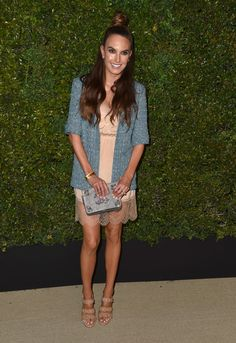 Elizabeth Chambers attends the celebration of Chanel's Gabrielle Bag