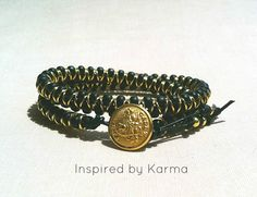 Triple West Point Goddess Wrap Bracelet - $32.99 - Handmade Jewelry, Crafts and Unique Gifts by Inspired by Karma  #westpoint #militarymoms #militarywives #westpointgifts #handmade #handmadejewelry
