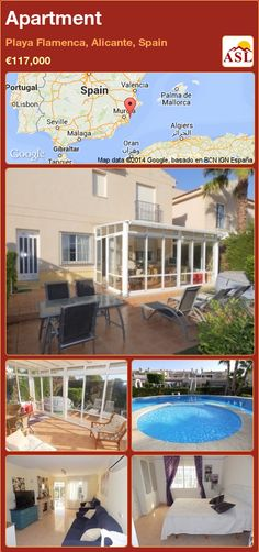 Apartment for Sale in Playa Flamenca, Alicante, Spain with 2 bedrooms, 1 bathroom - A Spanish Life Valencia, Portugal, Alicante Spain, Log Burner, Double Bedroom, Apartments For Sale, Open Plan, Ground Floor, Terrace