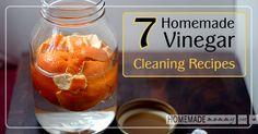 7 Homemade Vinegar Cleaning Recipes | www.homemademommy.net