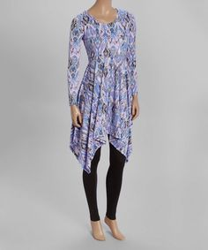 Another great find on #zulily! Lavender Ikat Sidetail Tunic #zulilyfinds