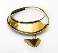 Necklace | Art Smith. Brass.  ca. 1950's