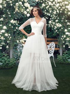 wedding dresses with sheer skirts - Google Search