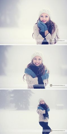Auch im Winter kann man tolle Bilder machen. Hier passen die Farben toll zur Schneelandschaft und die Struktur der Kleidung passt sich perfekt ein.