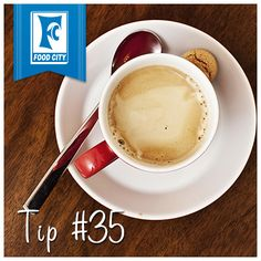 Easily remove coffee/tea stains from the insides of cups by rubbing with a salted citrus peel.