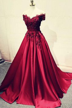 Prom Dress Princess, Burgundy lace off shoulder long prom dress, lace evening dress Shop ball gown prom dresses and gowns and become a princess on prom night. prom ball gowns in every size, from juniors to plus size. Beaded Evening Gowns, Lace Evening Dresses, Elegant Dresses, Pretty Dresses, Sexy Dresses, Beautiful Dresses, Prom Dresses, Formal Dresses, Formal Prom