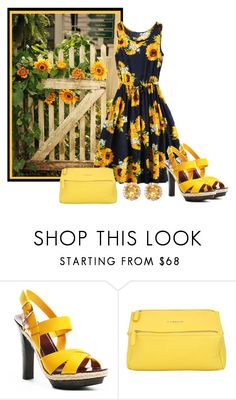 """Sunflowers"" by sjlew ❤ liked on Polyvore featuring Givenchy and Rina Limor"