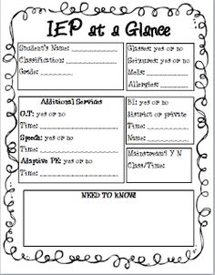 iep | IEP Planning Form Sample | Special Ed. Forms and info ...