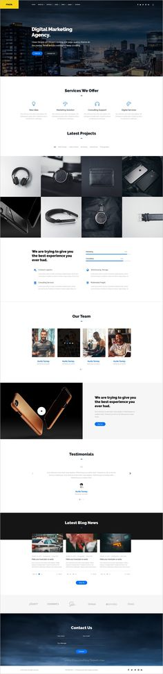 Maze agency is a wonderful premium #PSD template for one page #digital #agency, portfolio and blog websites download now➩ https://themeforest.net/item/maze-agency-one-page-agency-psd-template/18953340?ref=Datasata