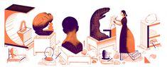 Il y a 155 ans naissait Camille Claudel Camille Claudel, Google Doodles, Auguste Rodin, Logo Google, Art Google, Sonia Delaunay, French Sculptor, You Doodle, Moving To Paris
