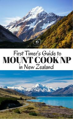 Are you planning your first visit to Mount Cook National Park in New Zealand? Learn where to stay in the park, what the best hiking trails are and what other exciting adventure activities you can plan for your visit. Mount Cook New Zealand, New Zealand South Island, New Zealand Itinerary, New Zealand Travel Guide, New Zealand Adventure, Lake Tekapo, Visit New Zealand, Adventure Activities, Parc National