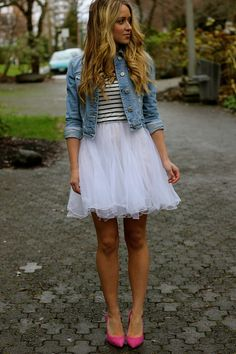 stripes and a tutu... wish i could wear this