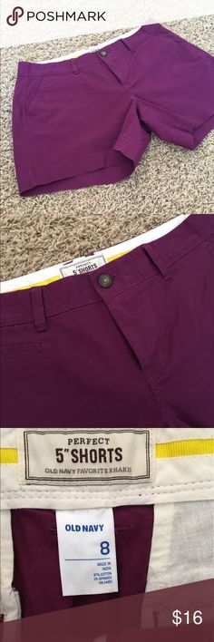 "Old Navy Shorts 5"" Inseam. Dark Purple. NWOT NWOT. Dark purple shorts by Old Navy. 5"" Inseam. Bundle with other colors listed. Old Navy Shorts"