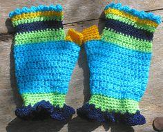 crochet fingerless gloves by thespannerworks on Etsy, $30.00