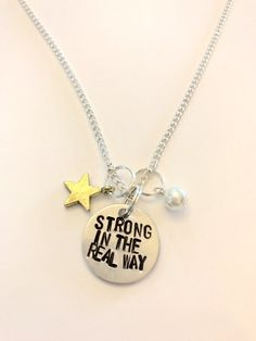 Cute and tugged on my heart-strings?? I want it XD || Steven Universe Pearl Inspired Hand-Stamped Necklace