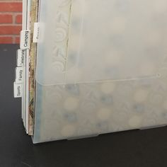 Easy to find exactly what you need when you add Paper Storage Box Dividers to your Paper Handler.