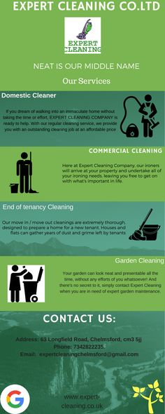 At Expert Cleaning Co.Ltd we are expertize in cleaning services we deals in all types of cleaning services such as Domestic Cleaner, Commercial Cleaning, Garden Cleaning, End of tenancy Cleaning, Cleaning Services all types of cleaning work.