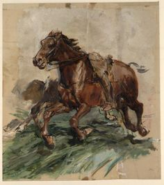 'Brown horse in Galopp' by Jean Louis Ernest Meissonier (1815-1891, France)