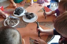 cavemen paintings with sand and burnt sticks