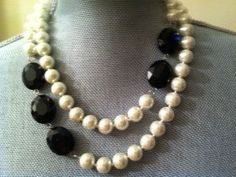 Pearls and black, I like this combination