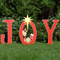 The Isle Joy/Nativity Printed Yard Sign Is A Beautiful Display Of The True  Joy Of Christmas. Each Large Letter Measures Tall X Wide To T.