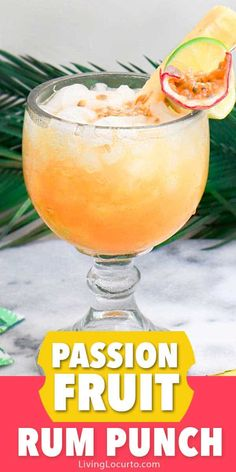An easy Passion Fruit Tropical Rum Punch cocktail recipe. Make a pitcher of this… An easy Passion Fruit Tropical Rum Punch cocktail recipe. Make a pitcher of this easy tropical rum drink for your next party. via Living Locurto Rum Punch Cocktail, Rum Cocktails, Beste Cocktails, Cocktail Drinks, Cocktail Recipes, Alcoholic Drinks, Drinks Alcohol, Cocktail Ideas, Pina Colada