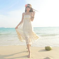 bohemia beach dress sling long dress,maxi~-Price: US$ 38.91