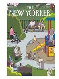 Claire's playground. The New Yorker Cover - May 7, 2012 Premium Giclee Print by Chris Ware